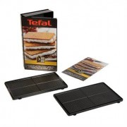 Tefal Coffret 2 plaques gaufrettes avec livre de recettes XA800512 Tefal