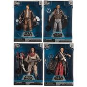 Elite Series Die Cast Action Figure - 6 1/2'' - Rogue One: A Star Wars Story 4-Pack Captain Cassian Andor / Bodhi Rook / Baze Malbus Elite & Chirrut mwe collectible bundle