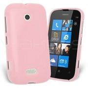 Nokia Lumia 510 Силиконов Калъф Розов + Протектор