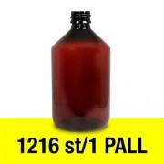 Pharma 500 ml 1 pall - plastflaska 1216 st brun