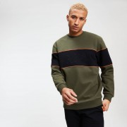 MP Rest Day Men's Stripe Sweatshirt - Army Green - XL