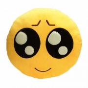 Soft Smiley Emoticon Yellow Round Cushion Pillow Stuffed Plush Toy Doll (Sympathy Gainer)