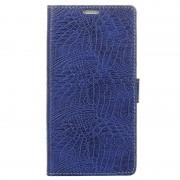 Capa tipo Carteira Crocodile para Samsung Galaxy Xcover 4 - Azul Escuro