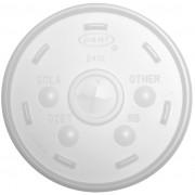Tapa de plastico PS Translúcida con Cruz Ø9,9cm (1000 Uds)