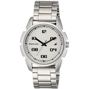 Fastrack Casual Analog Silver Dial Mens Watch - 3124Sm01