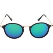 Barbarik Retro Square Sunglasses(Blue, Pink)