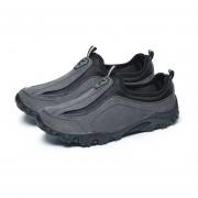 EY Primavera Verano Hombres Cómodo Caminar Al Aire Libre Escalada Casual Zapatos De Ocio-Gris