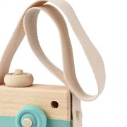 ELECTROPRIME Cute Wooden Toy Camera Crafts Children's Room Nursery Wall Hanging - Green