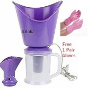AAbha vaporizer steamer / Facial Sauna Vaporizer and Nose Steamer (All in One Steam Inhaler) With Household Gloves