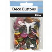 Merkloos Naai accessoires gekleurde knopen 100 stuks