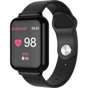 B57 Fitness Tracker Smart Band Watch Bracelet Wristband Blood Pressure Heart Rate Monitoring - Black