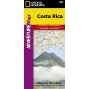Costa Rica - Travel Maps International Adventure Map (National Geographic)(Sheet map, folded) (9781566953146)