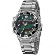 Relojes WEIDE WH843 Para Hombre Acero Deportes Militares Analógico Digital - Ejército Verde