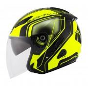 KYT Hellcat Superfluo Jet helma S žlutá