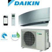 Daikin Climatizzatore Inverter Daikin Emura Silver FTXJ25MS / RXJ25M 9000 btu Wi-Fi Gas R32 + staffe