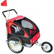 Aosom Remolque Bicicleta Rojo Aosom 18m+