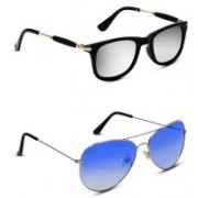 S JARI Aviator Sunglasses(Multicolor, Blue)