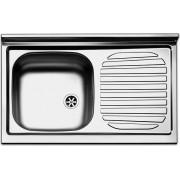 apell Pi801lpc Lavello Cucina Incasso 1 Vasca Con Gocciolatoio Sx Larghezza 80 Cm Materiale Acciaio Finitura Prelucida - Pi801lpc Serie Pisa