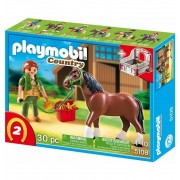 Shire con Establo rojo - Playmobil