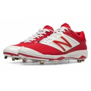 New Balance Low-Cut 4040v3 Metal Baseball Cleat Red with White