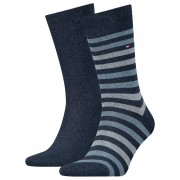 Tommy Hilfiger 2 pack pánských ponožek TH Men Duo Stripe Sock 2P
