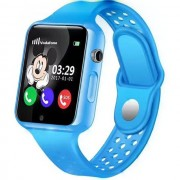 Ceas GPS Copii iUni Kid98, Telefon incorporat, Touchscreen 1.54 inch, Bluetooth, Notificari, Camera, Albastru