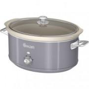 Oala electrica Slow cooker Swan SF17031GRN, Retro, Capacitate 6.5 Litri, Vas ceramic, Putere 650W