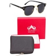 ALTON Wallet, Wrap-around Sunglass Combo(Black)