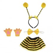 Electroprime® Girl Kids Cartoon Bee Dressing up Outfit Fancy Dress Set Animal Costume Prop