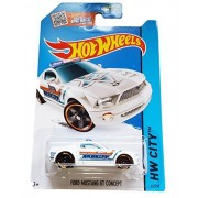Hot Wheels, 2015 HW City, Ford Mustang GT Concept [White] Sheriff Die-Cast Vehicle #49/250 by Hot Wheels