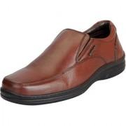 Hush Puppies Men's Premium Leather Tan Formal Slip On Shoes