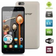 """Smartphone Libre Huawei Honor 4X (3G 5.5"""" EMUI 3.0 Android 4.4 Quad-core 8GB)Desbloqueado-Oro EU Plug"""