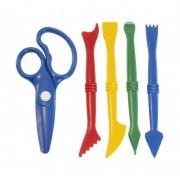 Set 5 accesorii pentru modelaj Miniland, 14 cm