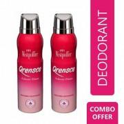 Mistpoffer Qrensce Perfumed Deodorant Body Spray Combo Offer Pack of 2 for Women 150 ml Each