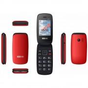 Maxcom MM817 kártyafüggetlen, extra nagy gombokkal, vészhívóval fekete - piros