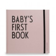 Baby?s first Book Babyalbum Pink Design Letters
