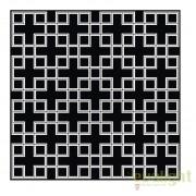 Covor design LUX din lana realizat manual, Caton 300x300cm negru/ alb 108524 HZ