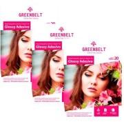 GreenBelt Kit 3 Pacotes de 20 Folhas Papel Fotográfico Glossy Adesivo A4 135g Greenbelt