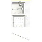 Öntapadós fémcsík, fehér, mágneses vitrage rúdhoz/Cikksz:09210015