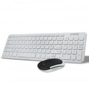 Tecknet Office Slim X600 2.4G - комплект устойчива на течности клавиатура и безжична мишка за офиса (бял)