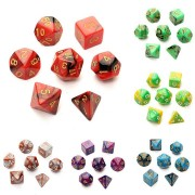 7pc/Set TRPG Games Gaming Dices D4-D20 Multi-sided Dices 6 Color Intelligence Toys