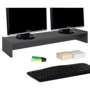 CARO-Möbel Monitoraufsatz ZOOM 100 x 15 x 27 cm in grau