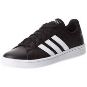 Adidas Grand Court Base EE7482 Tenis para Mujer, Negro (Core Black/Cloud White/Core Black), 22.5 cm B