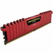 Corsair DDR4, 2400MHz 4GB 1 x 288 DIMM, Unbuffered, 14-16-16-31, Vengeance LPX Red Heat spreader, 1.20V, XMP 2.0, Supports 6th Intel Core i5/i7 CMK4GX4M1A2400C14R