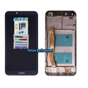 touch screen display lcd frame nero huawei y6 2018 atu-l11 atu-l21 aum-l29 e honor 7a +colla b7000 kit 9 in 1 e biadesivo