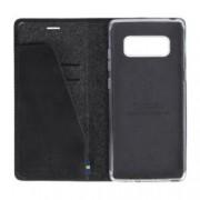 Калъф Samsung Galaxy Note 8, отваряем, кожен калъф, Krusell Sunne Folio Case, черен