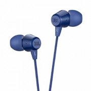 (Renewed) JBL C50HI in-Ear Headphones with Mic (Blue)