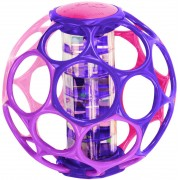 Мячик «Oball с погремушкой» розовый