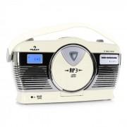 Auna RCD-70 retró rádió, FM, USB, CD, elem, krémszínű (MG-RCD-70-Y)