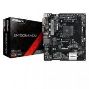 Дънна платка ASRock B450M-HDV, B450, AM4, DDR4, PCI-E (HDMI&DVI), 4x SATA 6Gb/s, 1x Ultra M.2 Socket, 4x USB 3.1 (Gen1), Micro ATX
